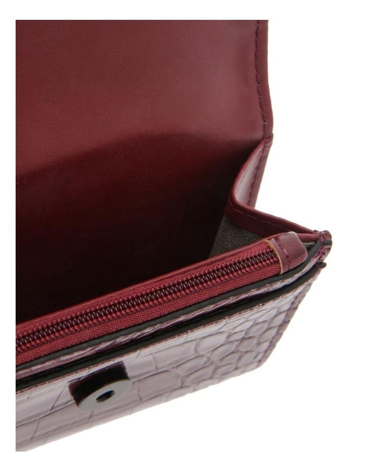 Lucille Flap-Over Burgundy Wallet image 3