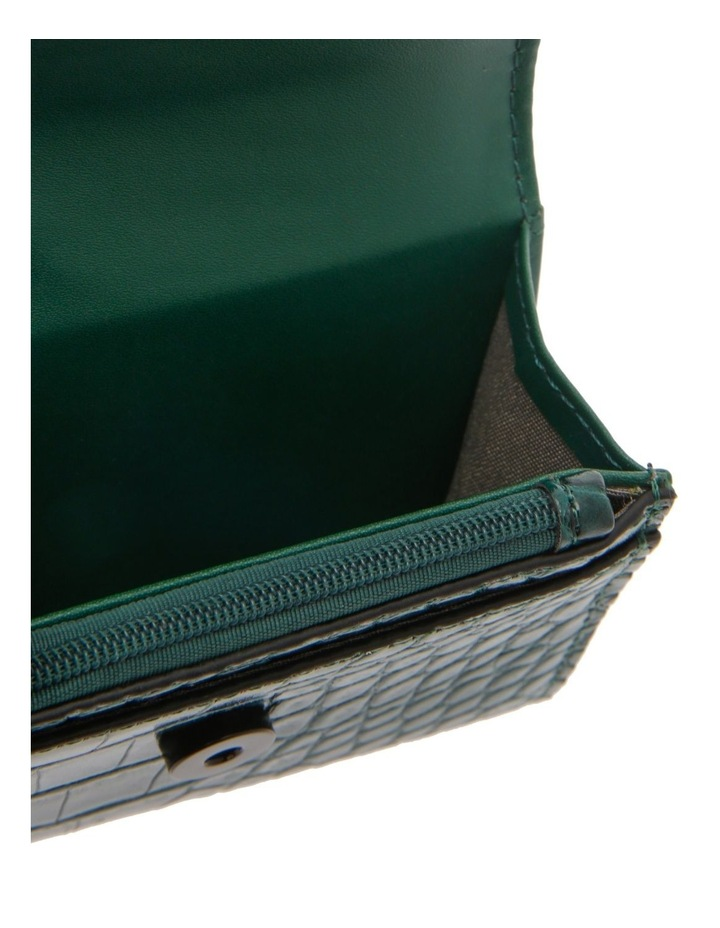 Lucille Flap-Over Green Wallet image 3