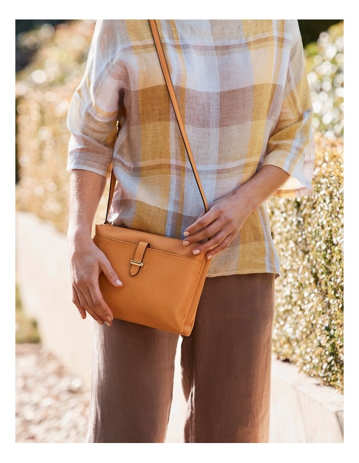 Lara Yellow Zip Top Crossbody Bag image 2