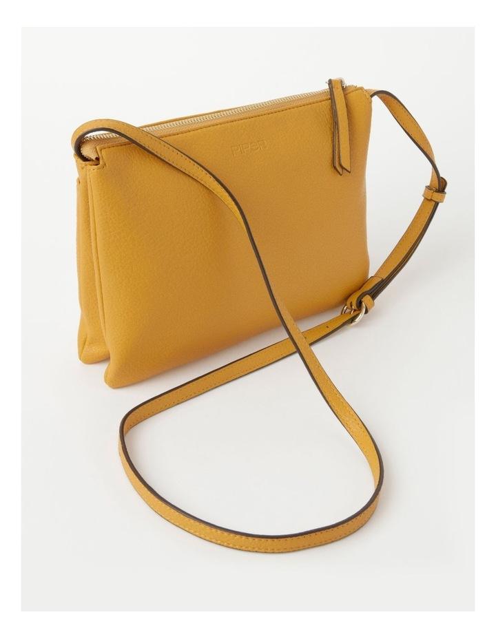 Lara Yellow Zip Top Crossbody Bag image 3