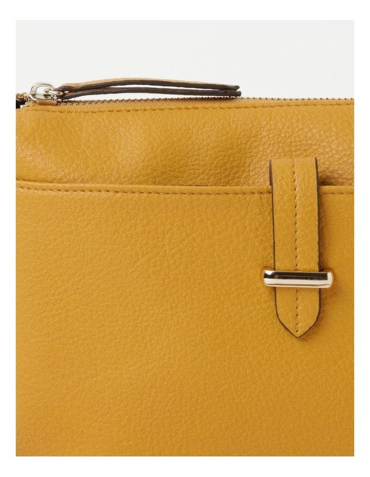 Lara Yellow Zip Top Crossbody Bag image 4