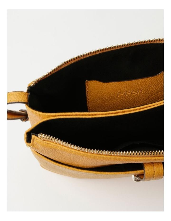 Lara Yellow Zip Top Crossbody Bag image 5