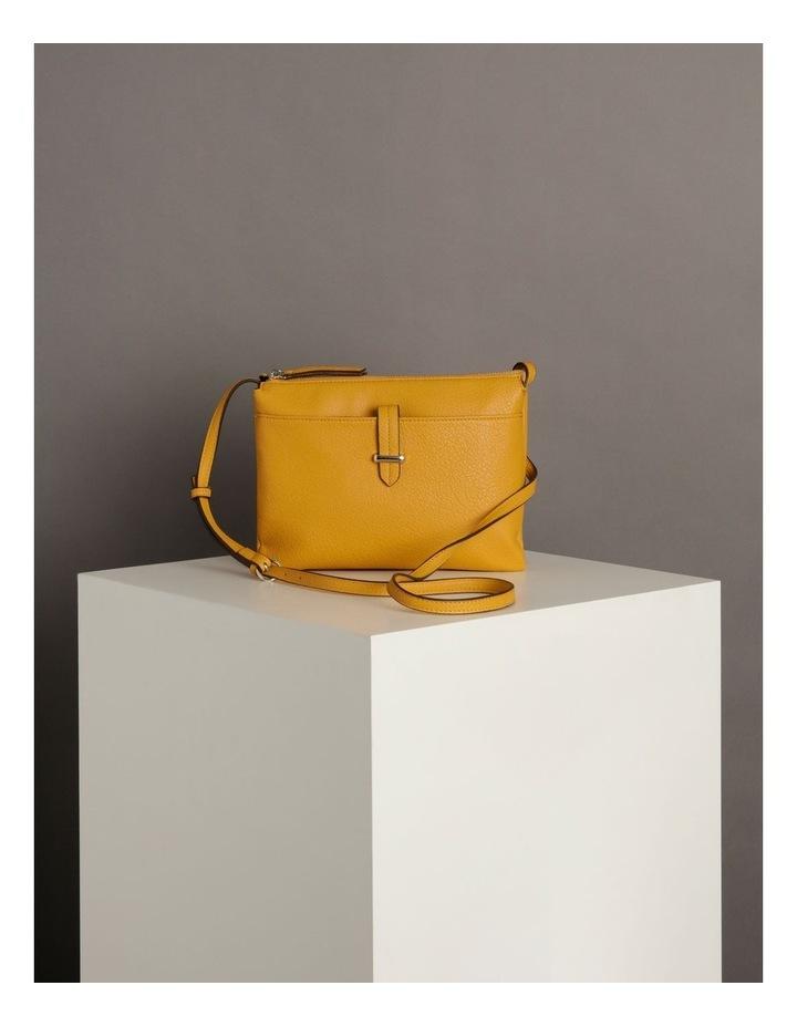 Lara Yellow Zip Top Crossbody Bag image 6