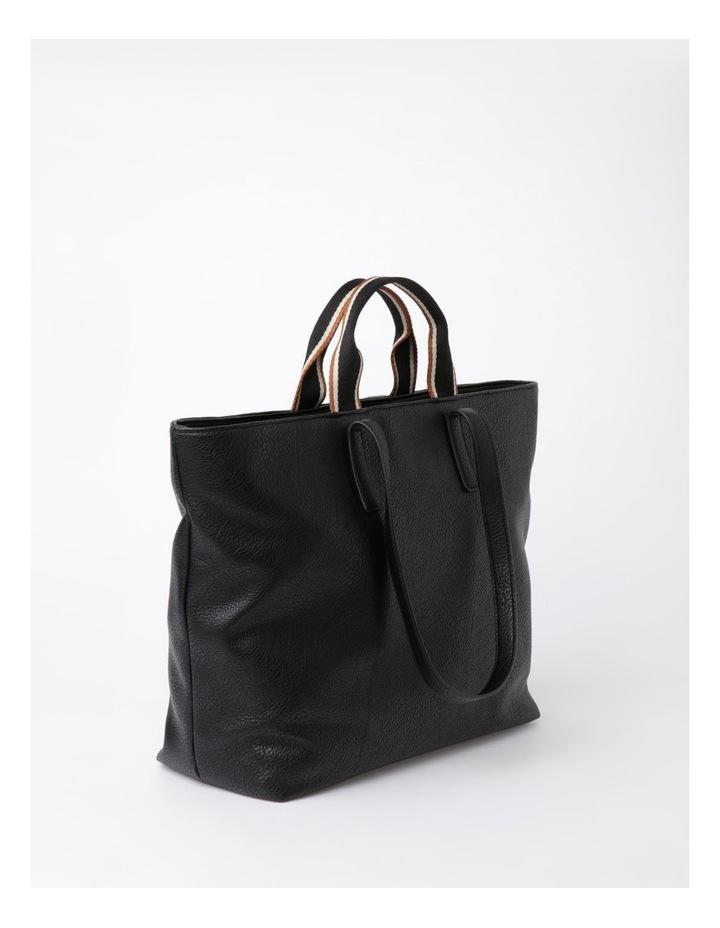Vancouver Black Zip Top Tote Bag image 2