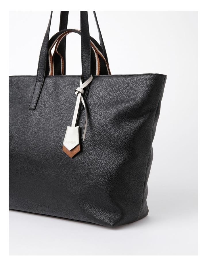 Vancouver Black Zip Top Tote Bag image 3