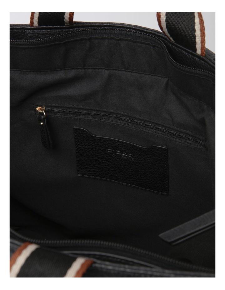 Vancouver Black Zip Top Tote Bag image 4