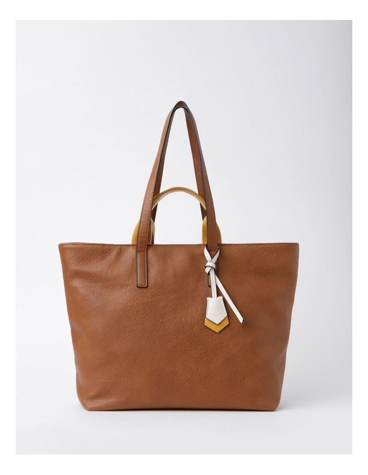 Vancouver Tan Zip Top Tote Bag image 1