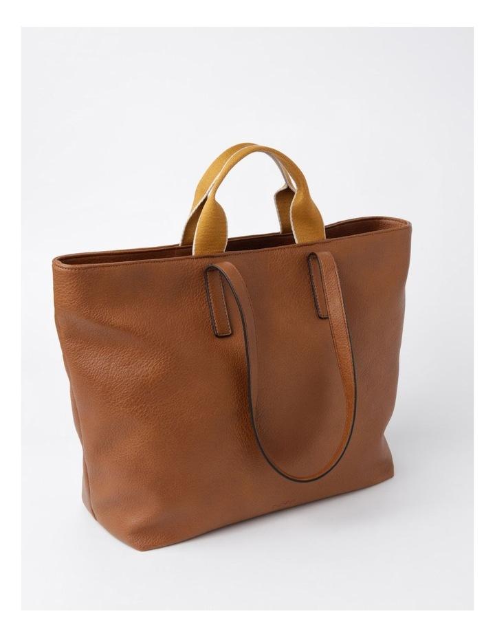Vancouver Tan Zip Top Tote Bag image 3