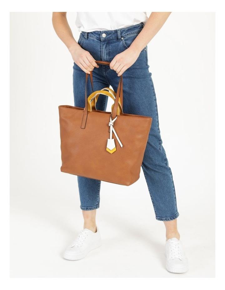 Vancouver Tan Zip Top Tote Bag image 4