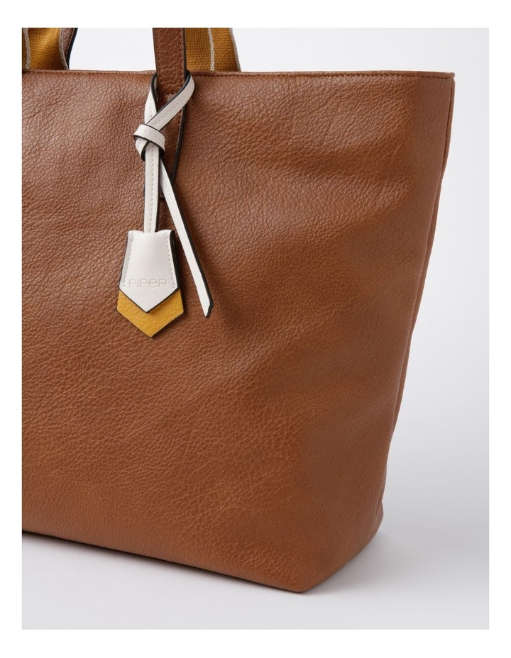 Vancouver Tan Zip Top Tote Bag image 5