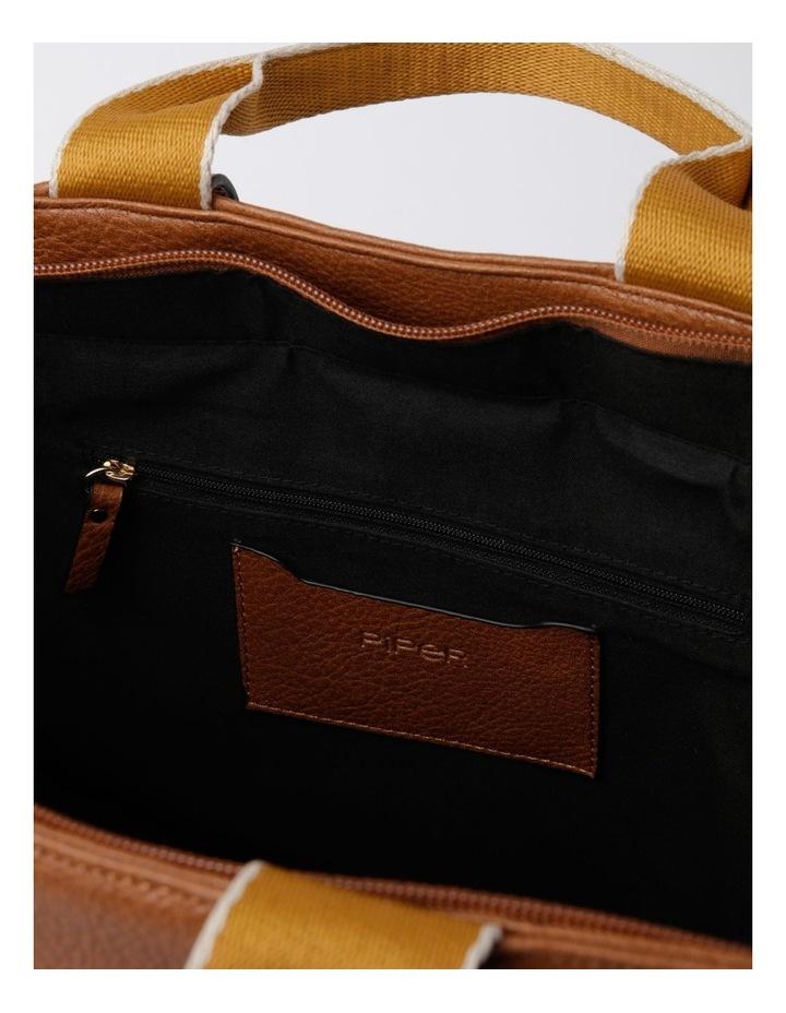 Vancouver Tan Zip Top Tote Bag image 6