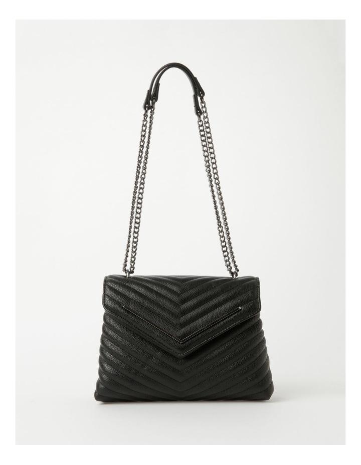 Elena Black Flapover Crossbody Bag image 1