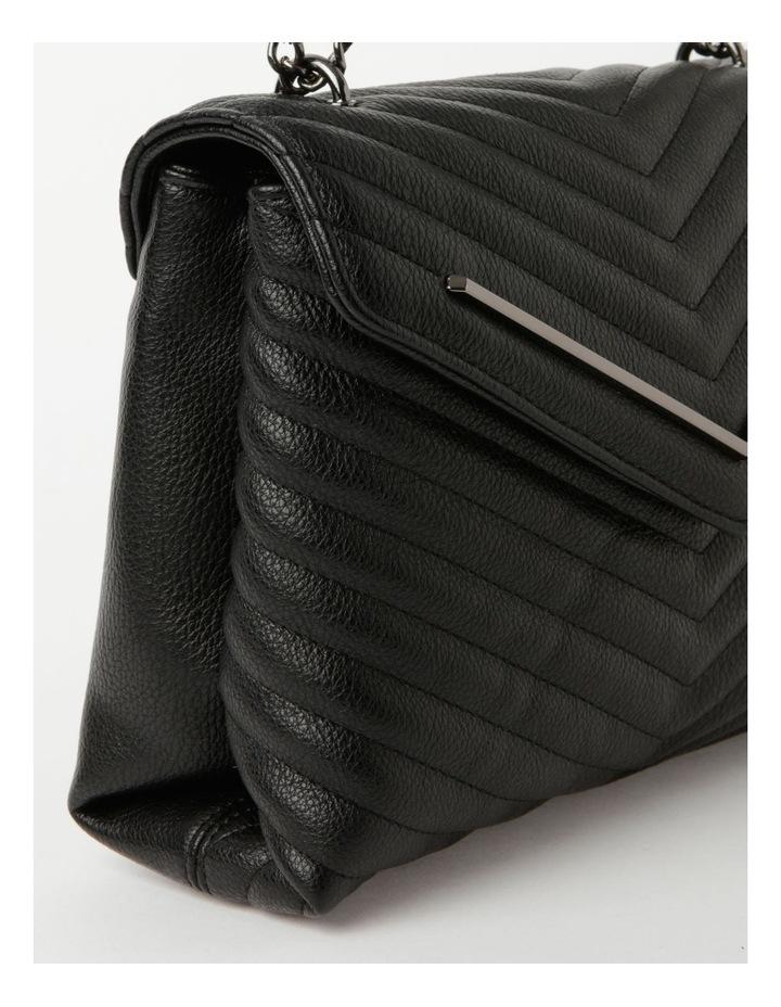 Elena Black Flapover Crossbody Bag image 3