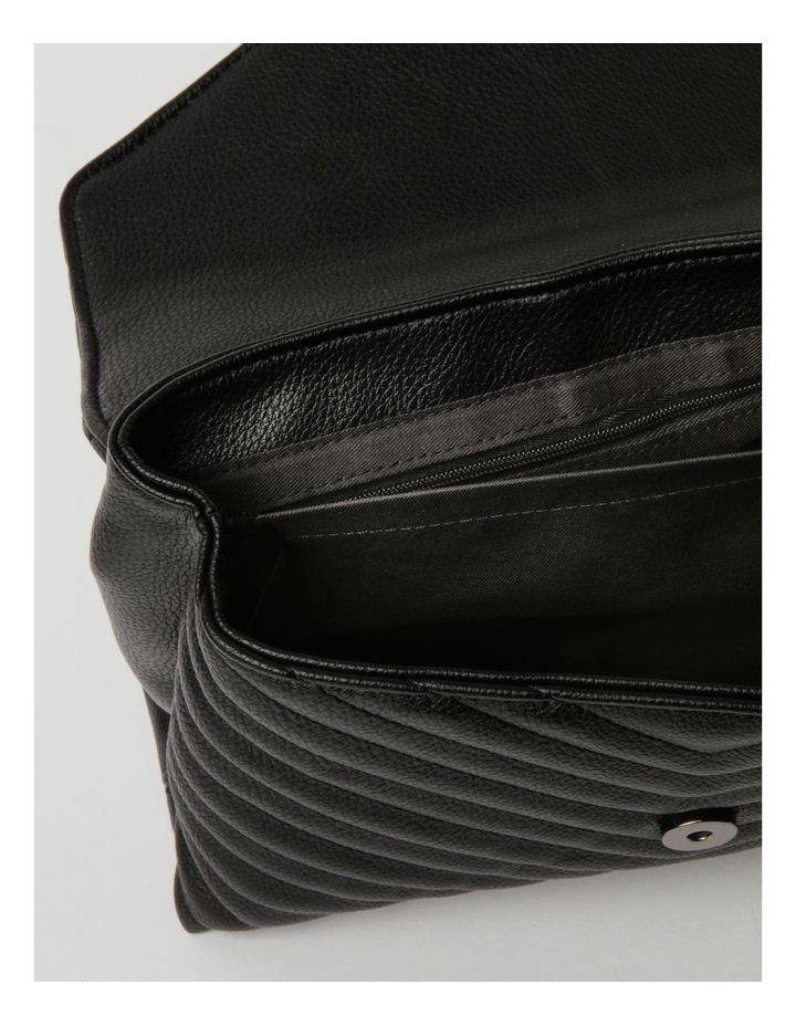 Elena Black Flapover Crossbody Bag image 4