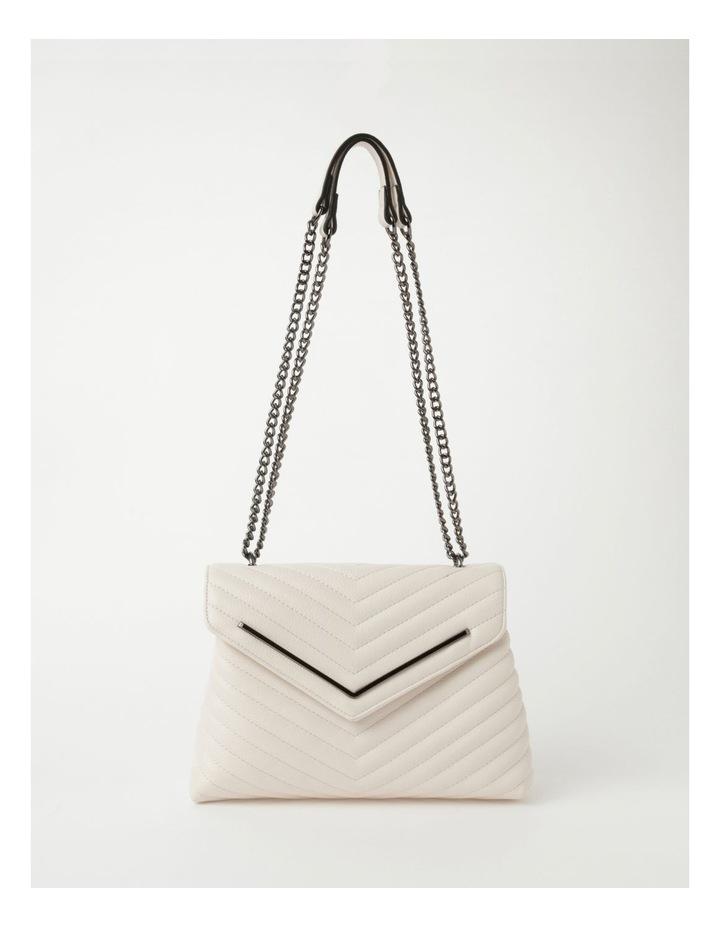 Elena White Flapover Crossbody Bag image 1