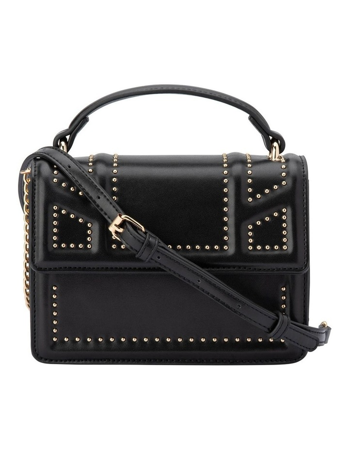 Ob1671_Blk Cambrie Studded Shoulder Bag image 1