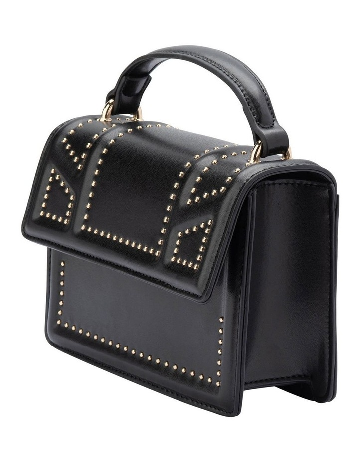 Ob1671_Blk Cambrie Studded Shoulder Bag image 2