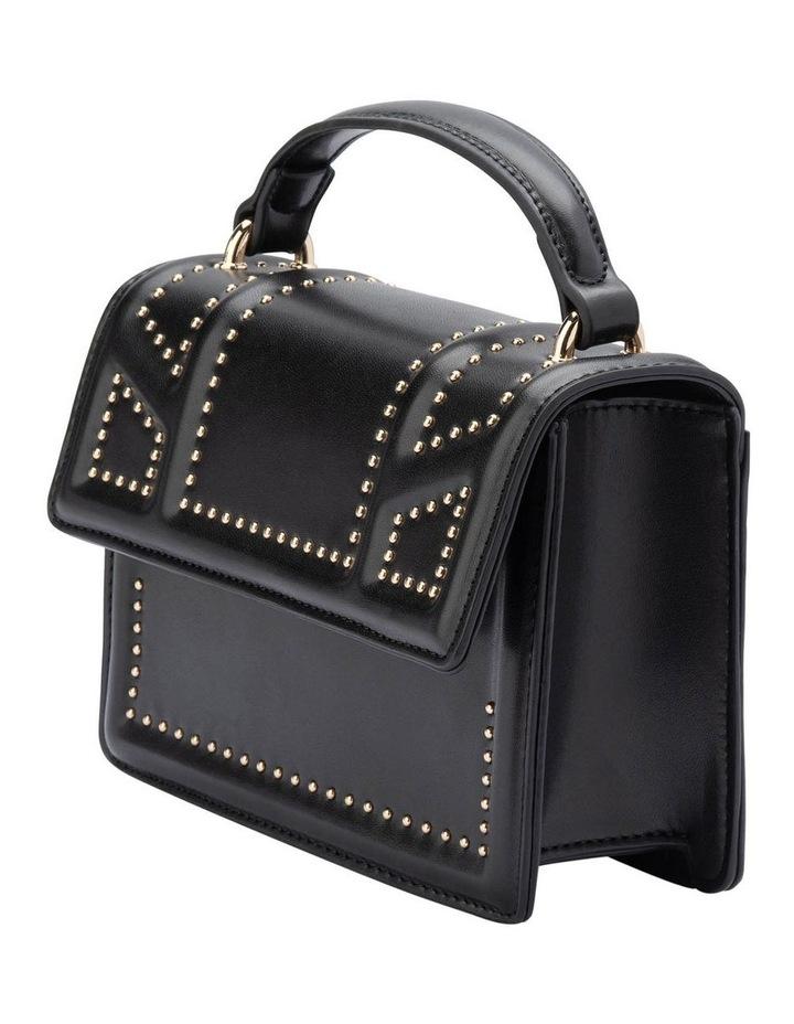 Ob1671_Blk Cambrie Studded Shoulder Bag image 2