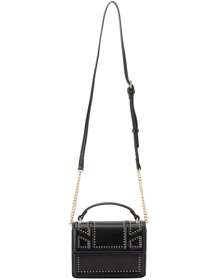Ob1671_Blk Cambrie Studded Shoulder Bag image 3