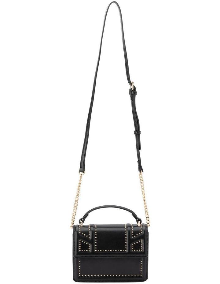Ob1671_Blk Cambrie Studded Shoulder Bag image 3
