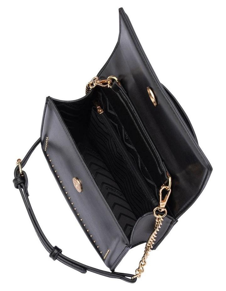 Ob1671_Blk Cambrie Studded Shoulder Bag image 4