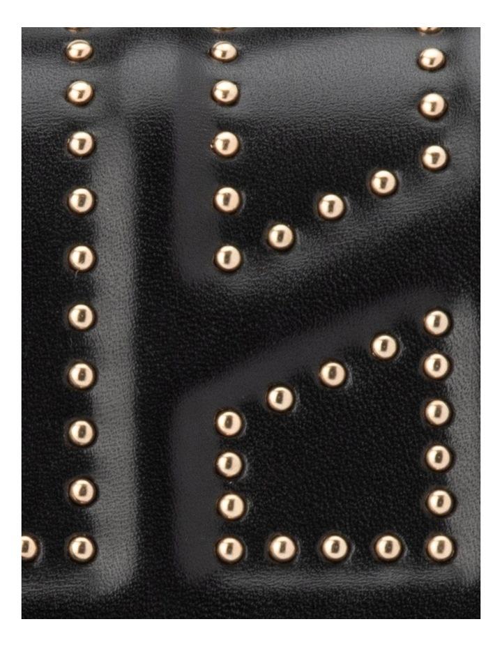 Ob1671_Blk Cambrie Studded Shoulder Bag image 5