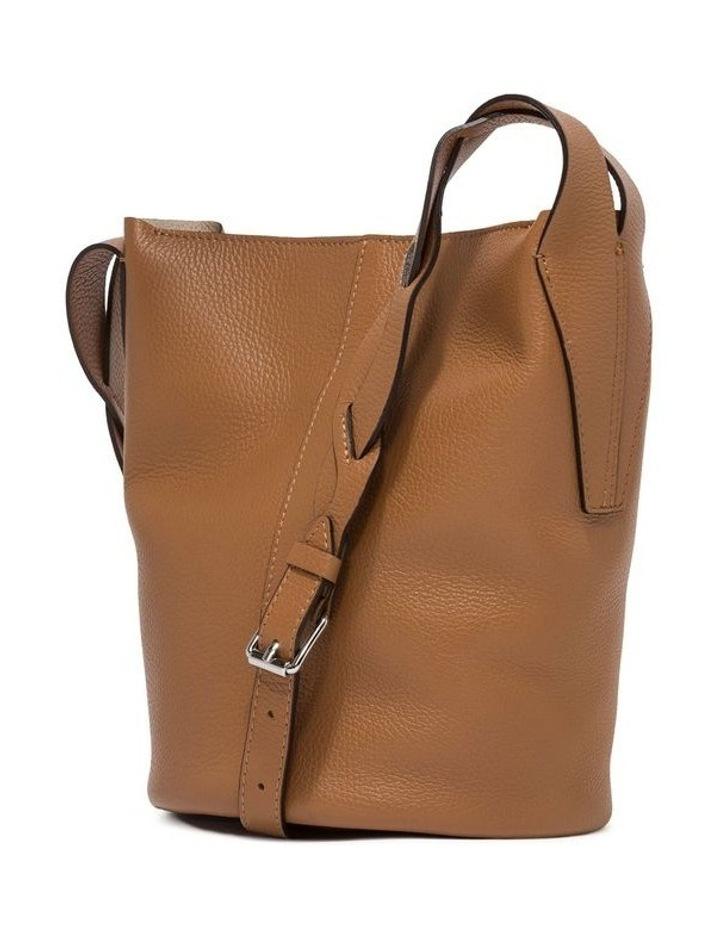 Alba Cream-Cuoio Bucket Shoulder Bag image 3