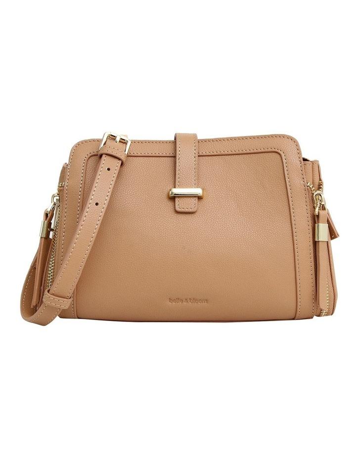 Your Girl Light Camel Zip Top Crossbody Bag image 1