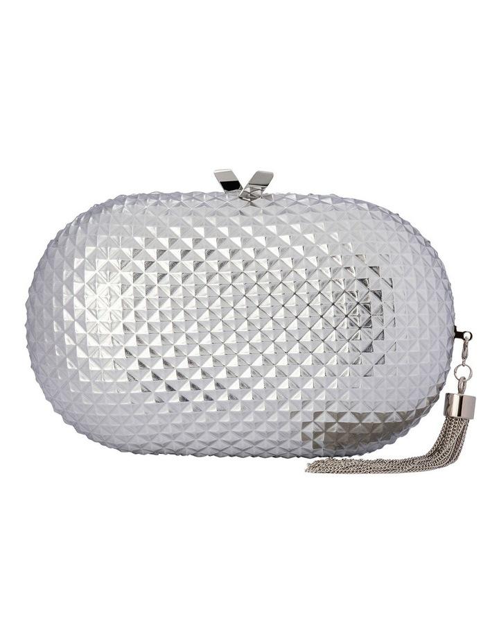 Mira Silver Hardcase Clutch Bag image 1