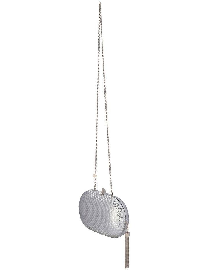 Mira Silver Hardcase Clutch Bag image 2