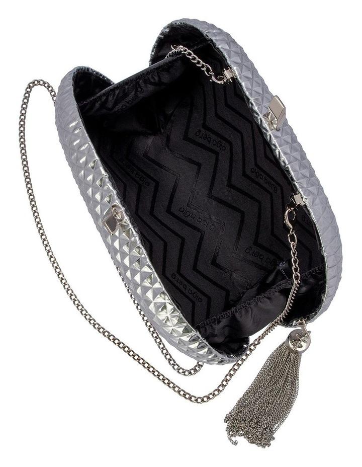 Mira Silver Hardcase Clutch Bag image 3