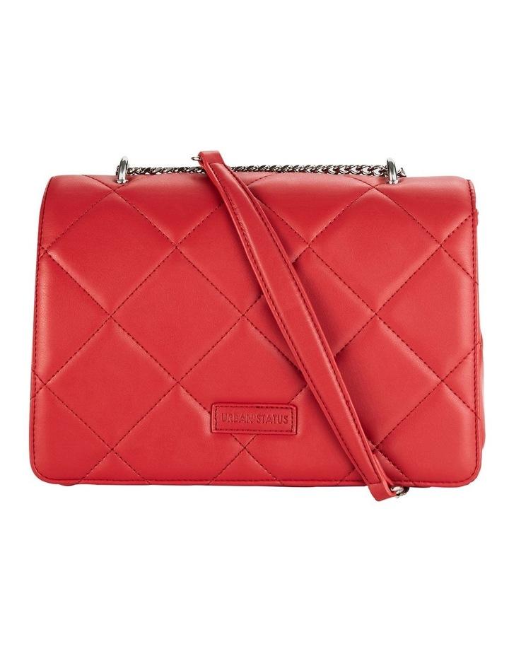 Us Georgina Red Flapover Shoulder Bag image 1
