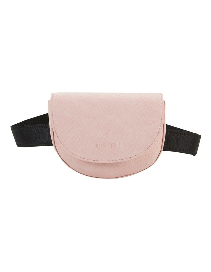 Anika Blush Python Flapover Belt Bag image 1