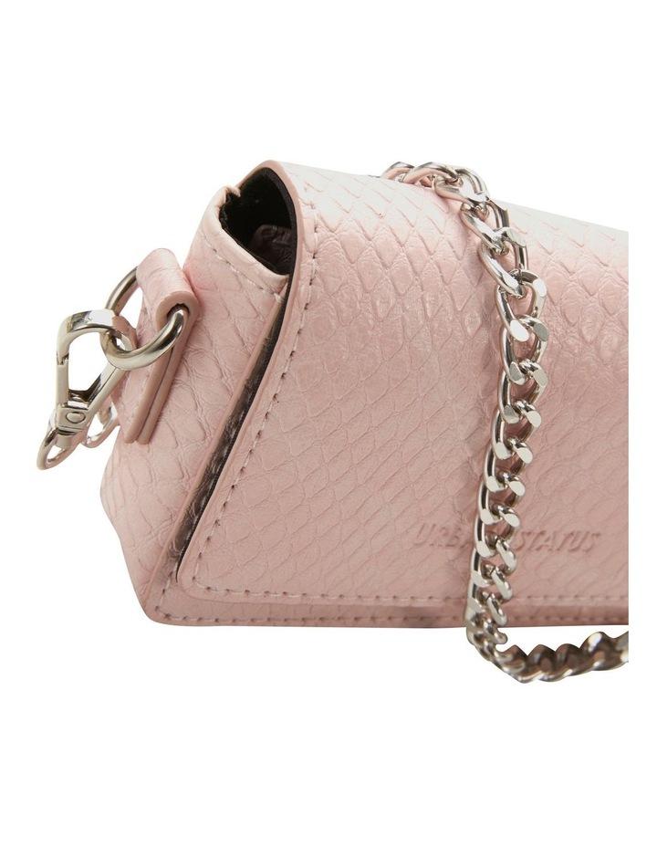 Bethany Blush Python Flapover Crossbody Bag image 4