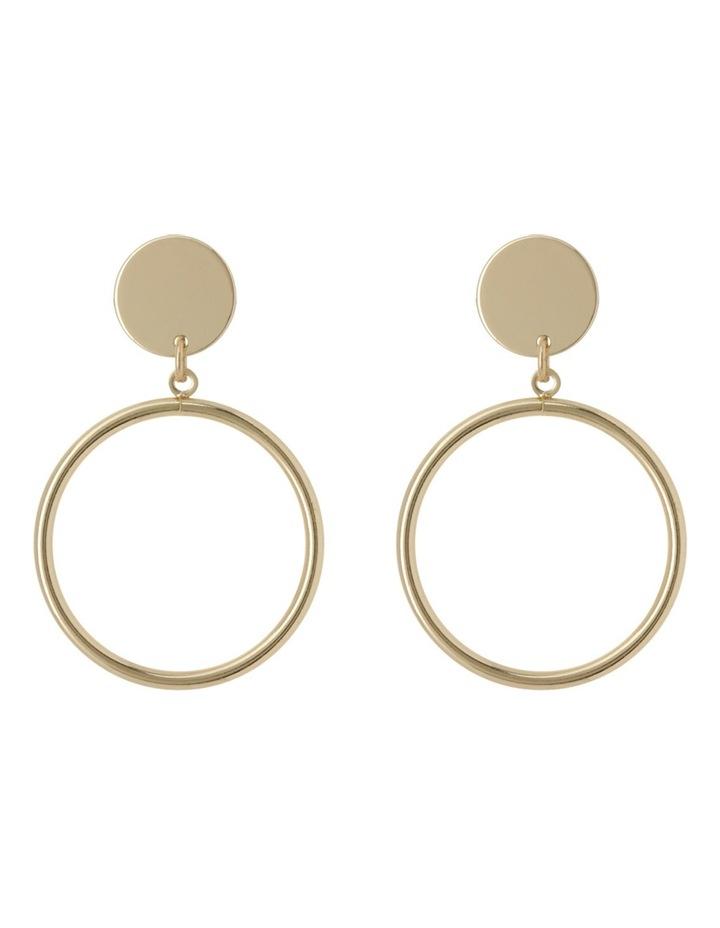Drop Hoop Earrings image 1