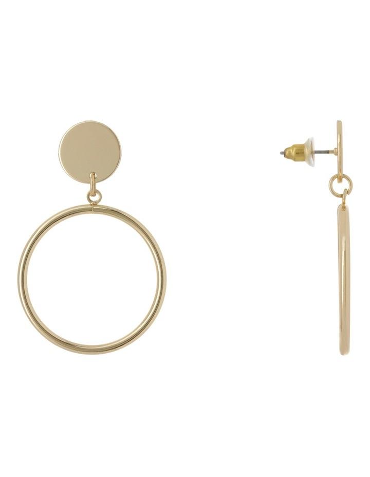 Drop Hoop Earrings image 2