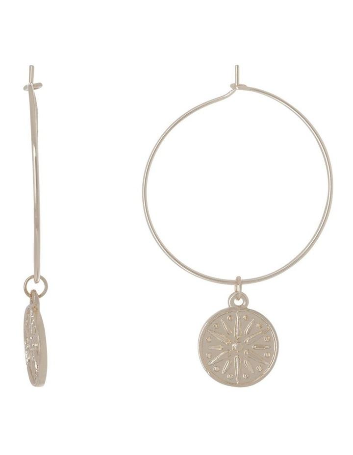 Sun Hoop  Earrings image 1