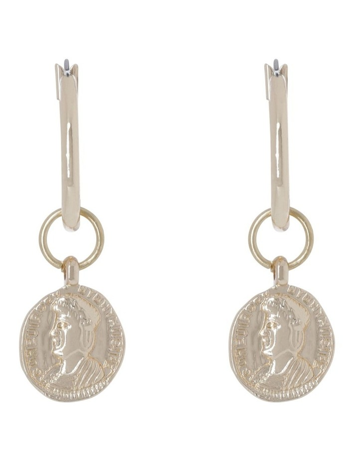 Small Coin Earrings image 1