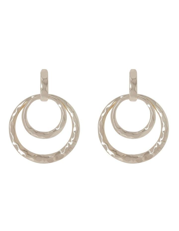 Hammered Hoop Earrings image 1