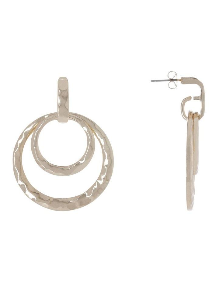 Hammered Hoop Earrings image 2