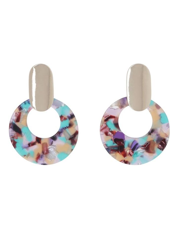 Resin With Metal Earrings image 1
