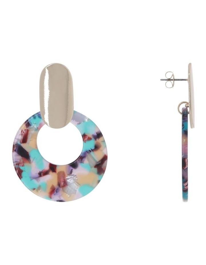 Resin With Metal Earrings image 2