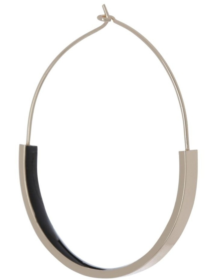 Enamel Hoop Earrings image 2
