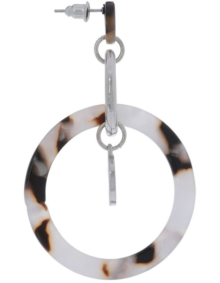 Linked Acrylic And Coin Earrings image 2