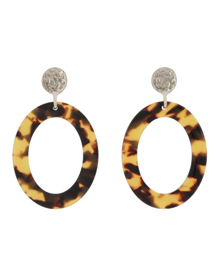 Oval Statement Acetate Earrings image 1