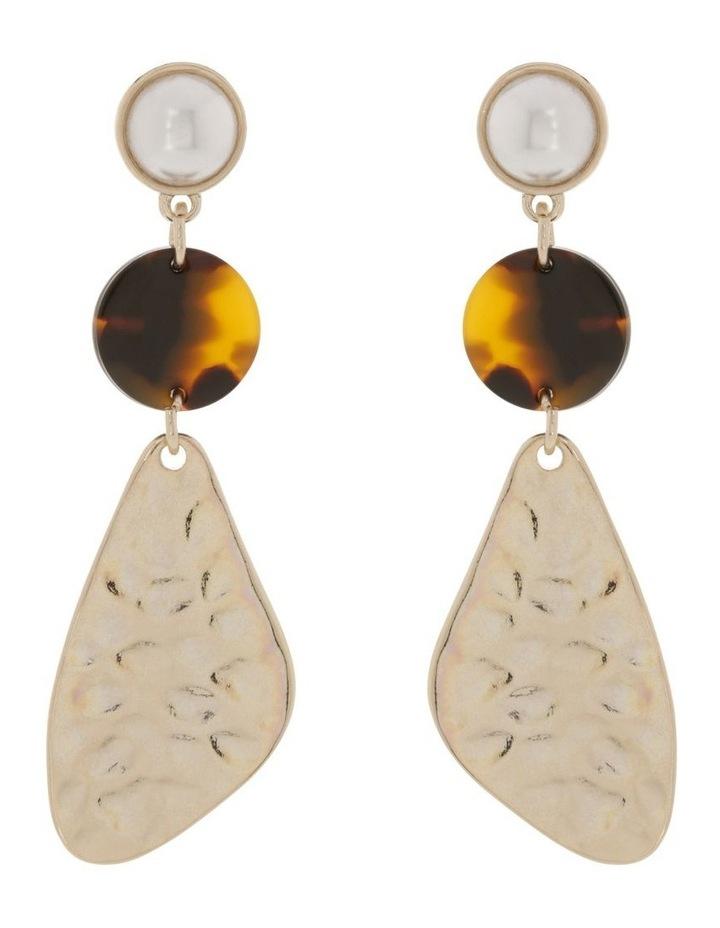 Molten Geo Drop Earrings image 1