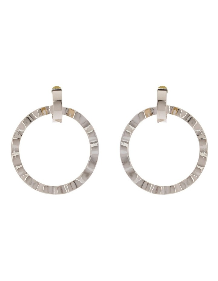 Mandy Crinkle Hoop Drop Earrings image 1