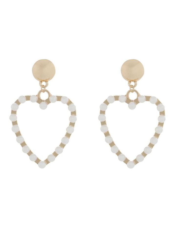 Pearl Love Heart Earrings image 1