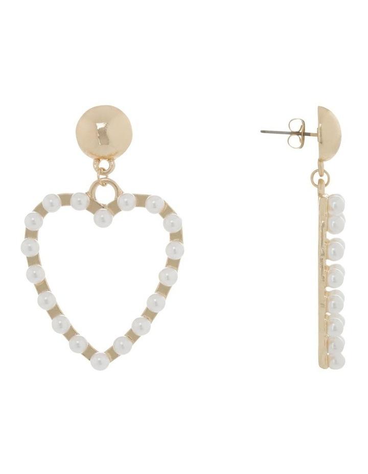 Pearl Love Heart Earrings image 2