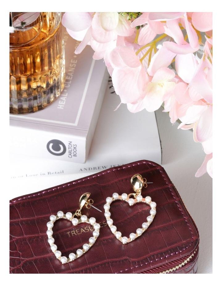 Pearl Love Heart Earrings image 3